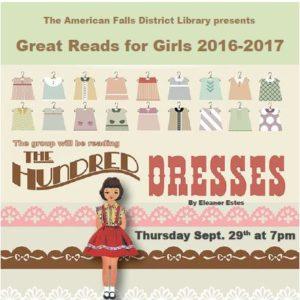 The Hundred Dresses dashboird pic